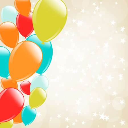 balloon background: soft bokeh background with stars and balloons