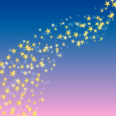 star background: golden star flowing over night background. vector