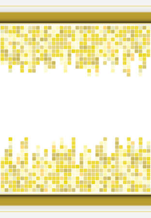 golden color: abstract golden color mosaic background with space for text Illustration