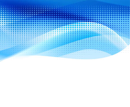 blue waves: vivid blue abstract background with halftone. vector