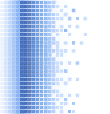 pixelate: abstract blue square mosaic background