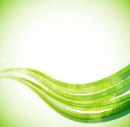 abstrakten Hintergrund mit grünen Wellen und Lichteffekten. Vektor