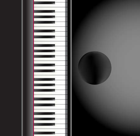 grace: piano and a chair background. vector