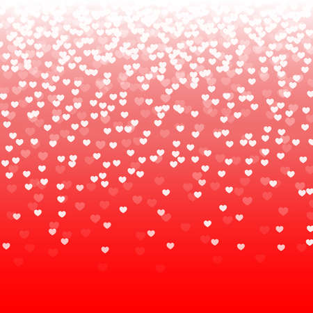 abstract red background with falling hearts. vector illustration Vectores