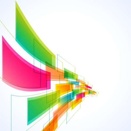 abstract rainbow: abstract background with transparent waving shapes. vector Illustration