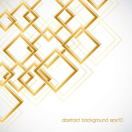 abstracte achtergrond met gouden ruit frames en lijnen. Stock Illustratie