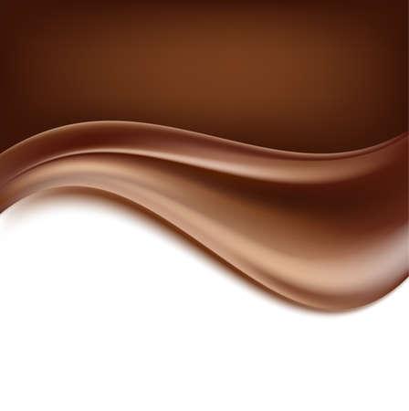 チョコレートの背景。クリーミーな抽象的な背景。
