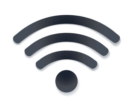 free illustration: wifi icon with shadow vector illustration. free hotspot symbol on white. vector