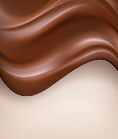creamy: Abstract chocolate background. Wavy, creamy chocolate vertical vector background Illustration