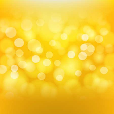 fond d'or avec des effets de lumière floue. Vecteur