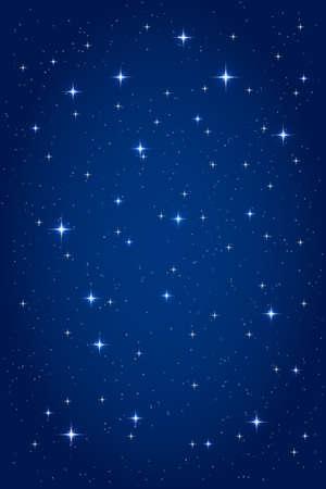 밤 별이 빛나는 배경. 벡터의 수직 디자인 템플릿