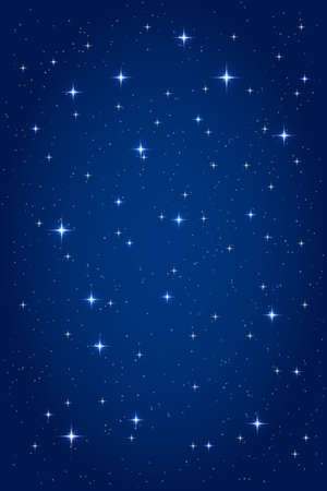 Night starry background. Vector vertical design template