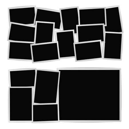 Photo album on white background. Vector design template