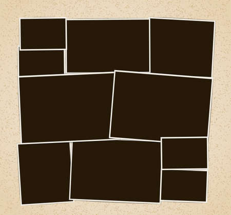 Cornici per foto composizione album. Modello di disegno vettoriale