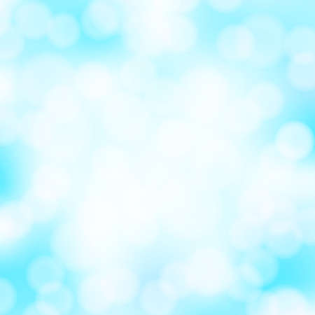 water bubbles: Abstract aqua blue bokeh simple background with blurred light effects. Glowing light in blue sky abstract horizontal backdrop for Your design. vector illustration