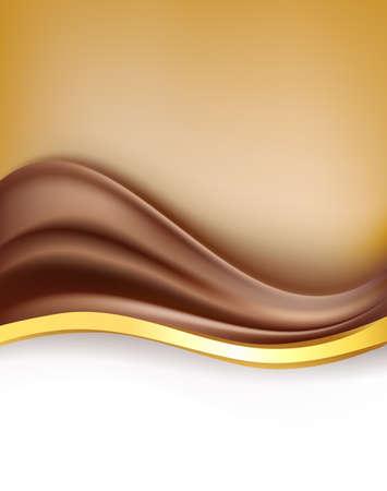 desig: creamy chocolate with golden border background