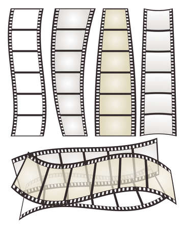 strip design: set of film strip with form variation on white for Your design. vector illustration