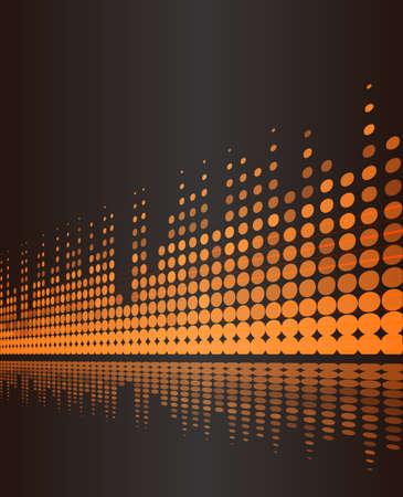 digital volume: musical background with studio digital frequency volume lines on dark brown. vector illustration Illustration