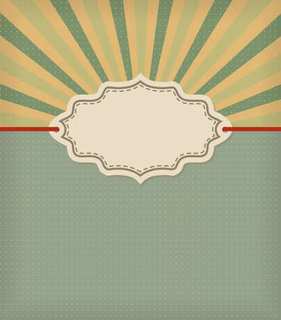 old fashioned: old fashioned frame with stripes background. retro vector design template