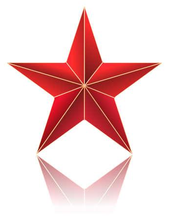 red metallic: red metallic star on white