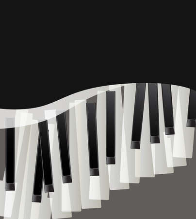 clavier: piano keys abstract musical background with space for text. vector illustration