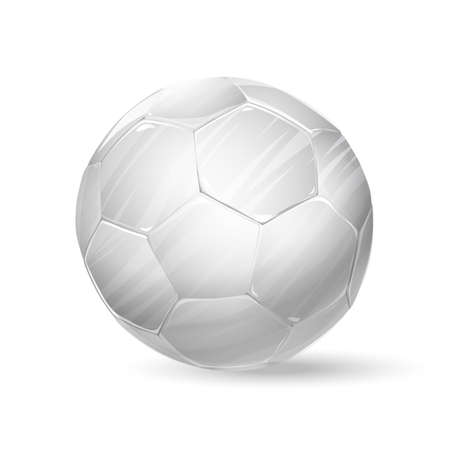footie: football white ball. soccer ball illustration