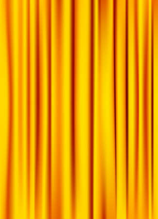 satiny: golden yellow silky curtain texture background. raster