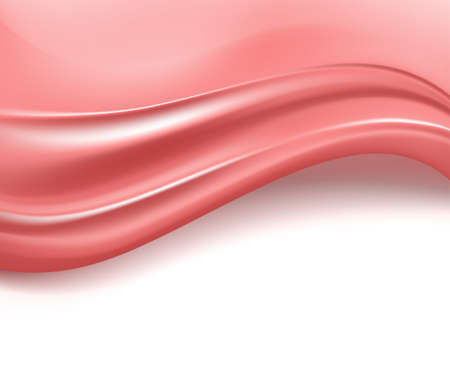 silky: wavy pink silky background. vector