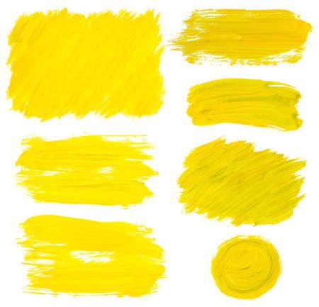 yellow paint: yellow gousach stains set on white