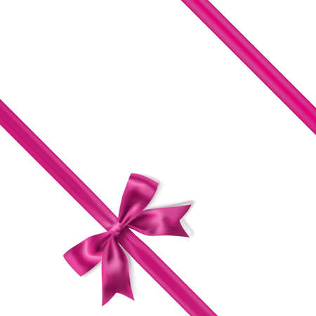 pink bow decoration background. vector Stock Illustratie
