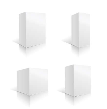 white box set. vector illustration