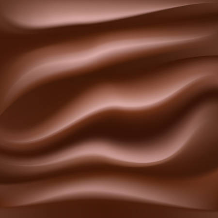 creamy: melting creamy chocolate abstract sweet food background. vector