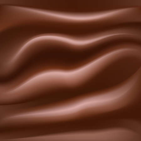 creamy: melting creamy chocolate texture sweet food background. vector