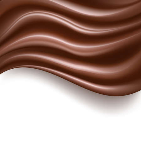 sweet background: creamy chocolate abstract sweet food background on white. vector