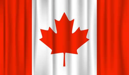 drapeau du Canada. illustration vectorielle