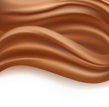 creamy: caramel or chocolate creamy milky waves abstract background. vector illustration