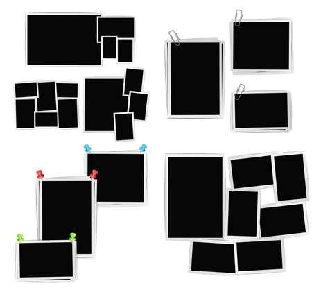 album fotolijsten samenstelling set op een witte achtergrond. Vector design template
