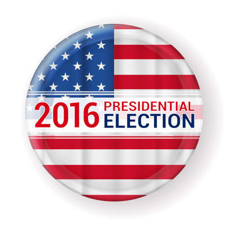 2016 presidential election badge. vector illustration Vectores