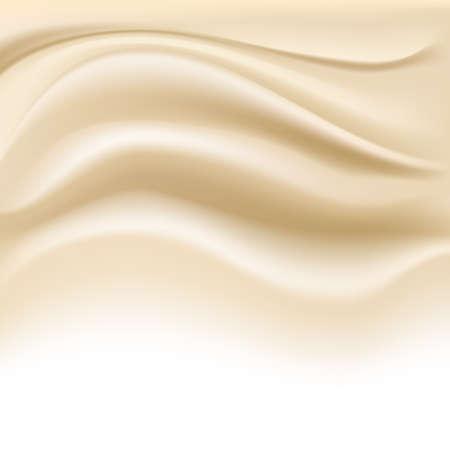 creamy: soft creamy background on white. vector illustration