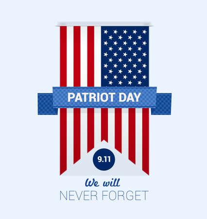 9.11 Dzień Patrioty z wektorem szablonu projektu flagi USA Ilustracje wektorowe
