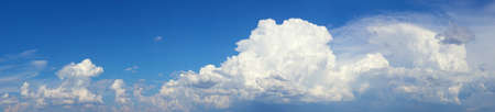 high resolution photo of white clouds on blue sky Stock Photo