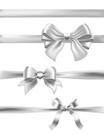 Set of silver bows