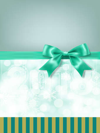 Turquoise bow and ribbon Illustration