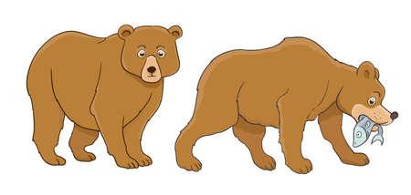 Cartoon bear set