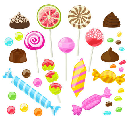 Set of assorted candies