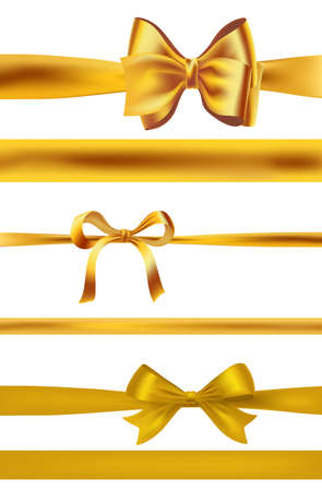 Set of golden bows