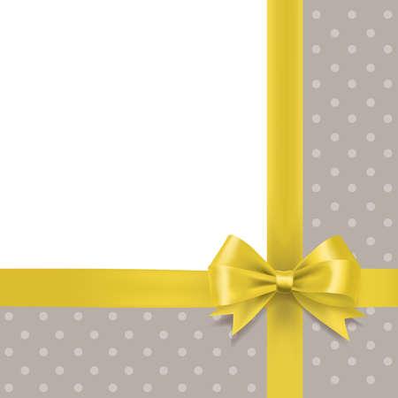 Golden bow and ribbon border holiday