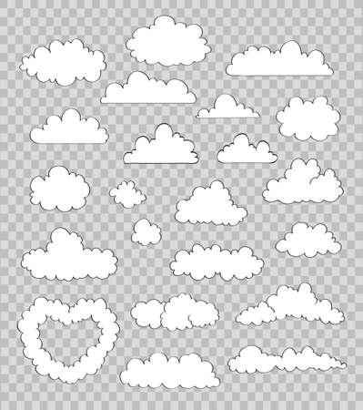 구름 세트 일러스트