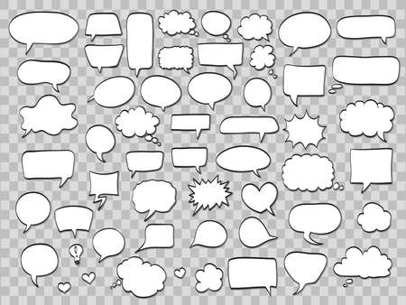 Set of comic speech bubbles
