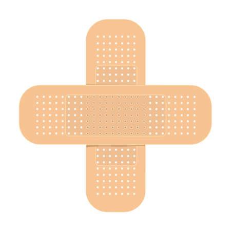 Realistic vector flexible fabric bandage Ilustração